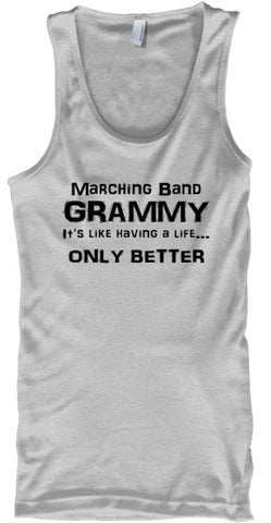 Marching Band Grammy Life - Black Letters - Tank Top