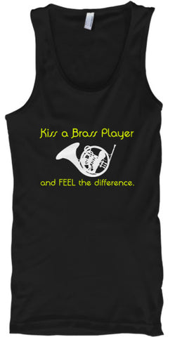 French Horn - Kiss a Brass Player - Tank Top