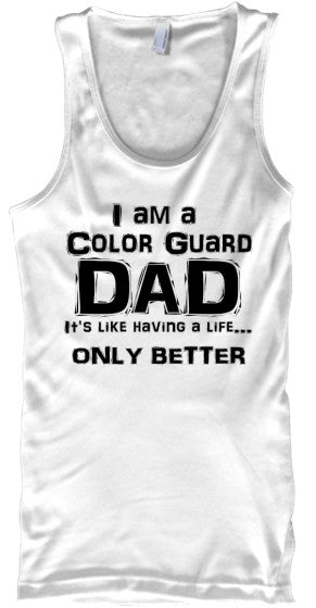 Color Guard Dad Life - Black Lettering - Tank Top