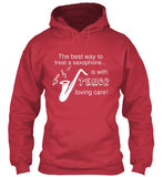 The Best Way To Treat A Saxophone Is With Tenor Loving Care - Hoodie