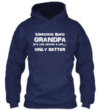 Marching Band Grandpa - White Lettering - Hoodie