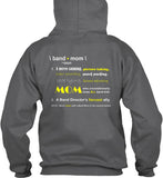 Band Mom Definition - Design on Back - Hoodie