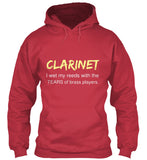 Clarinet - I wet my reeds with the tears of brass players - Hoodie