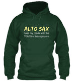 Alto Sax - I wet my reeds with tears - Hoodie