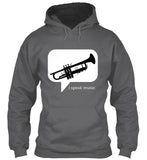 Trumpet - i speak music - Hoodie