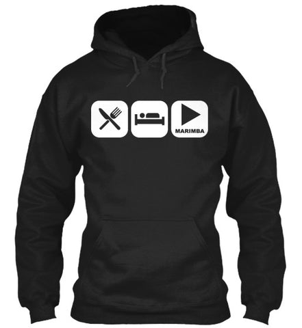 Eat, Sleep, and Play Marimba Hoodie!