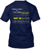 Band Mom Definition - Design on Back