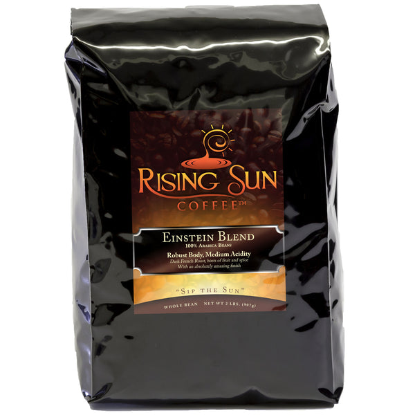 Einstein Dark Roast, Roasted Coffee Beans, 2 Pounds