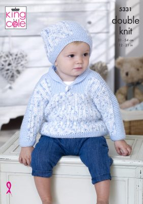 example of garment made with kingcole cherish dash dk yarn boy