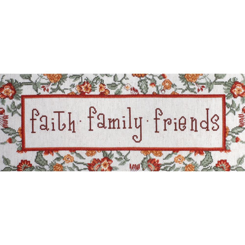 "Design Works Crafts ""Faith, Family, Friends"" Cross Stitch Kit"