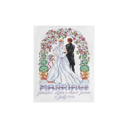 Janlyn To Love, Honor and Cherish Cross Stitch Kit