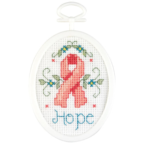 Janlynn Hope Cross Stitch Kit with hoop