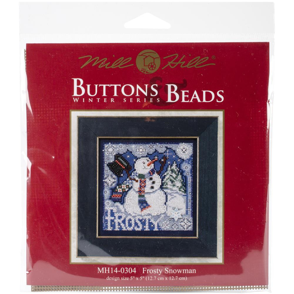 Mill Hill Frosty Snowman Beads and Cross Stitch Kit