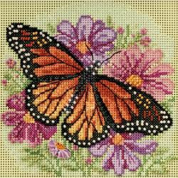 Mill Hill, Winged Monarch Beads and Cross Stitch Kit