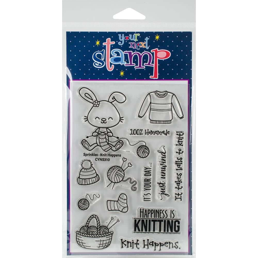 Your Next Stamp Knit Happens Clear Rubber Stamps