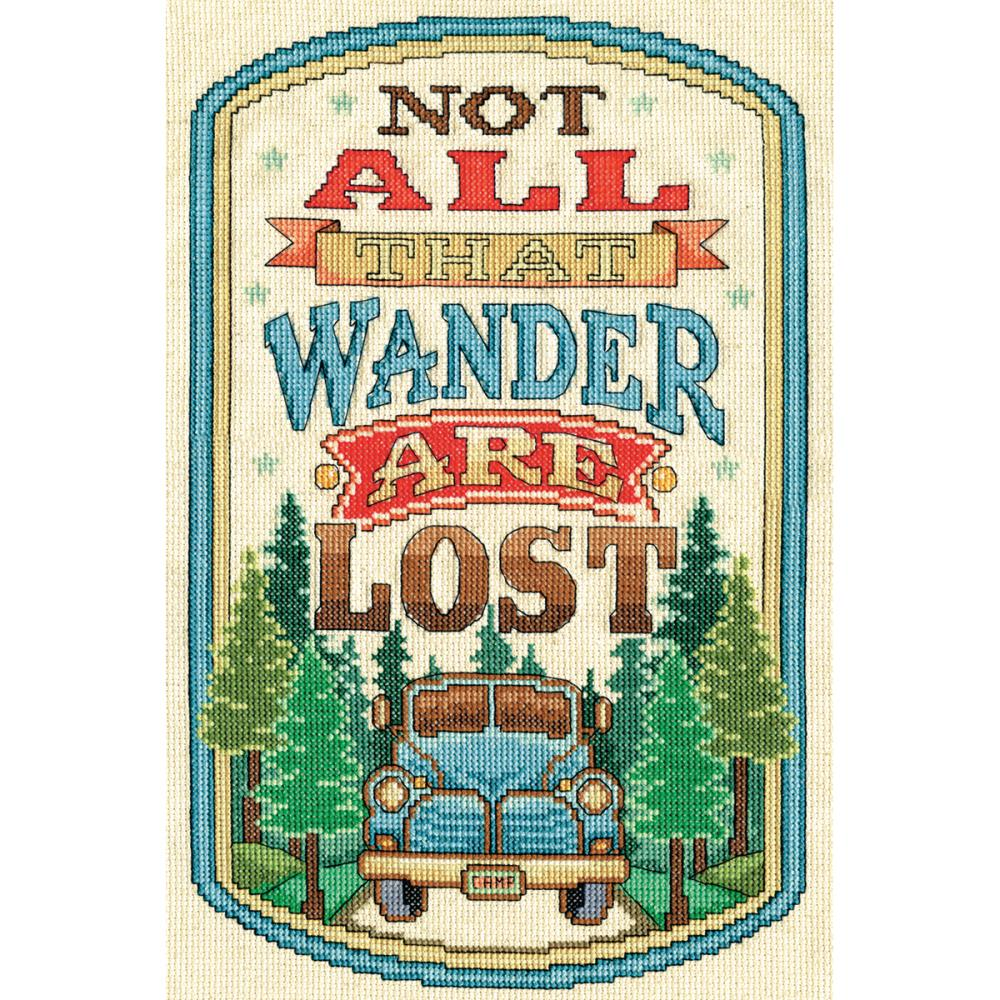 Not All that Wander Are Lost Cross Stitch Kit