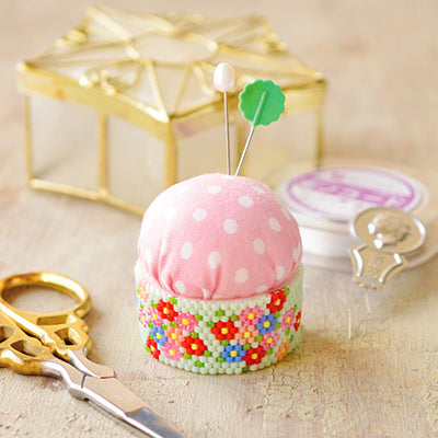 Floral Pin Cushion beading Craft Kit by Miyuki beads