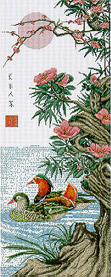 The Mandarian Ducks Cross Stitch Chart