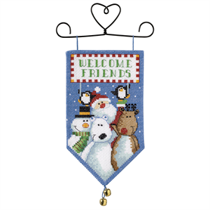 Santa & Friends Cross Stitch Banner KIT
