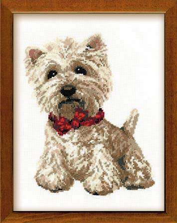 Riolis West Highland White Terrier Cross Stitch Kit