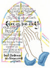 Imaginating Praying Hands Cross Stitch Kit