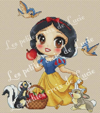 """Snow White"" Cross Stitch Chart"