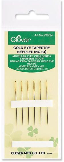 Clover Gold Eye Tapestry Needles No. 24
