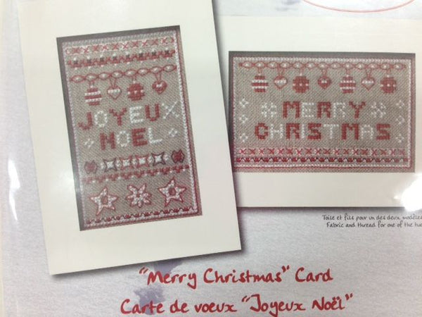 Deco By DMC Merry Christmas Greeting Card Cross Stitch Kit