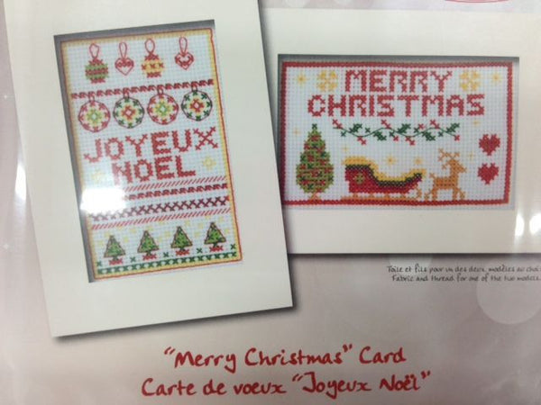 Deco By DMC Merry Christmas Card Cross Stitch Kit