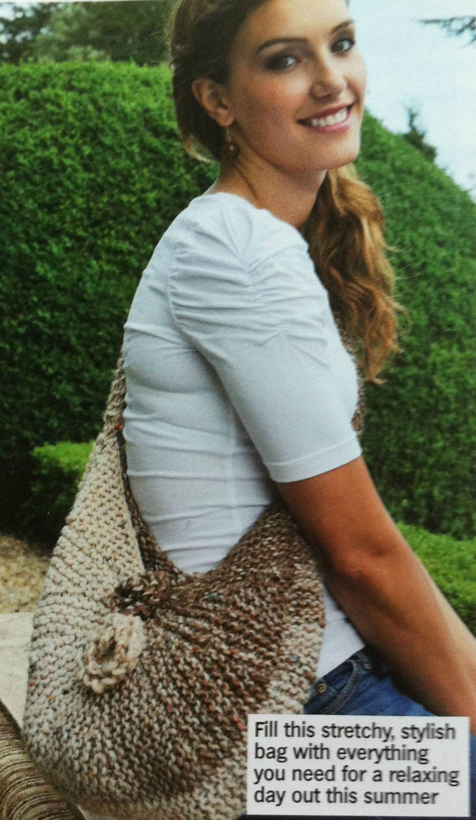 Guided Craft Project-Knit a Shoulder Bag