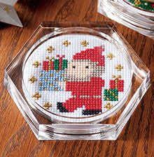 Cosmo Santa Claus Coaster Cross Stitch Kit
