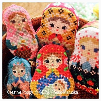 Matryoshka Needlework set II by Gera Cross Stitch Chart
