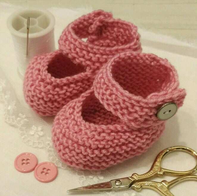 Guided Craft Project-Knit Baby Bootees