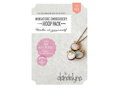"Dandelyne 1"" teeny-tiny Mini Hoop (set of 3)"