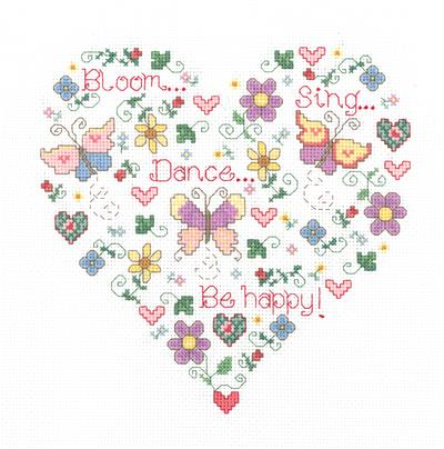 Butterfly Happiness Cross Stitch Chart
