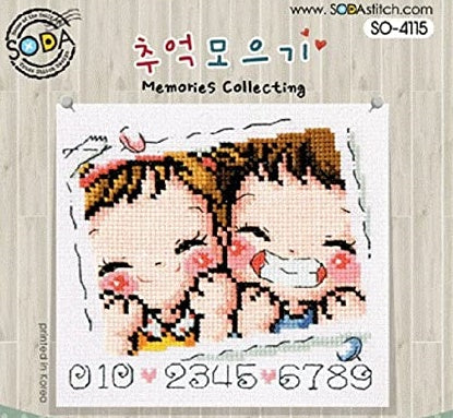 "SODA ""Memories Collecting"" Cross Stitch Kit"
