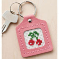 Lecien Cosmo Leather Key-Chain Cross Stitch