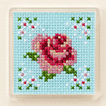 Lecien Cosmo Fridge Magnet Embroidery Cross Stitch Kit