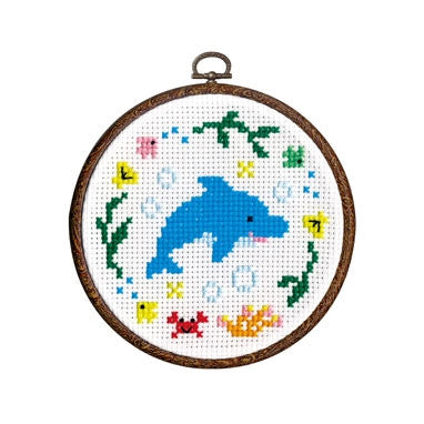 Olympus Cross Stitch Kit Dolphin