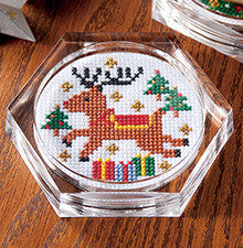 Cosmo Reindeer Coaster Cross Stitch Kit