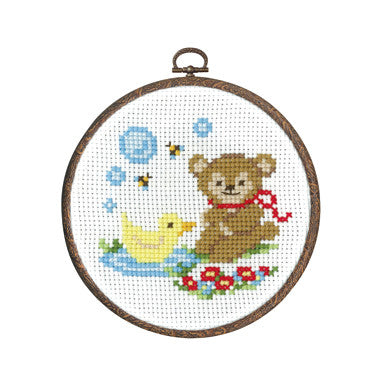 Olympus Cross Stitch Kit - Teddy and Duck