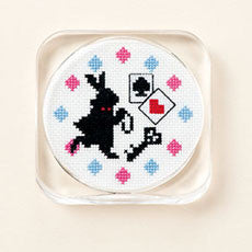 Lecien Cosmo Alice in Wonderland Coaster Cross Stitch Embroidery Kit