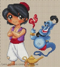 """Aladdin and the magic lamp"" Cross Stitch Chart"