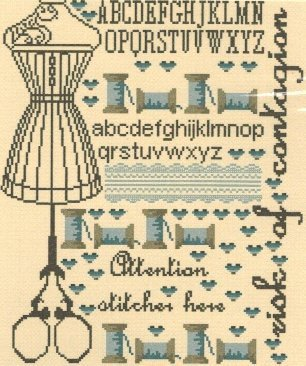 Attention Brodeuse Cross Stitch Chart