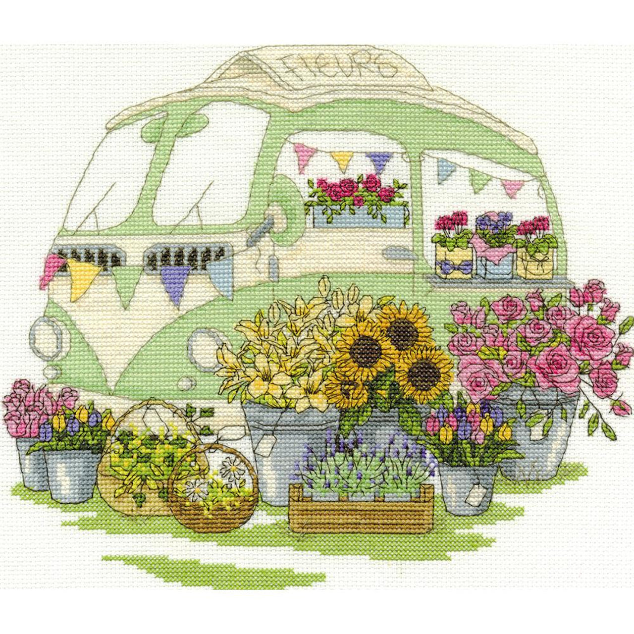 DMC Les Fleurs Counted Cross Stitch Kit