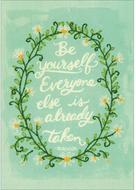 Be Yourself Embroidery Kit By Dimensions