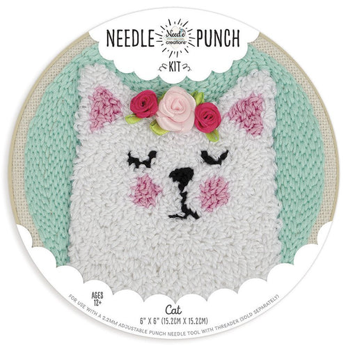 Cat Punch Needle Kit by Needle Creations