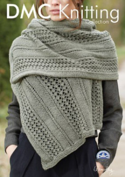 DMC Knitting Mesh Effect Shawl (15204L/2)