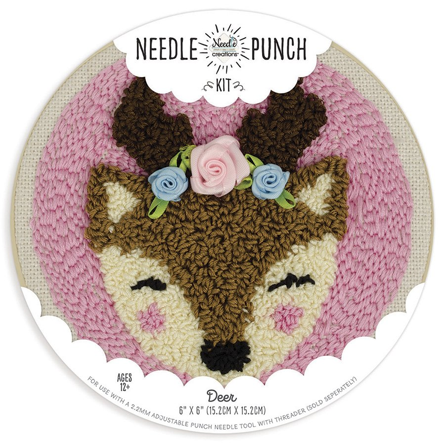 Deer Punch Needle Kit by Needle Creations