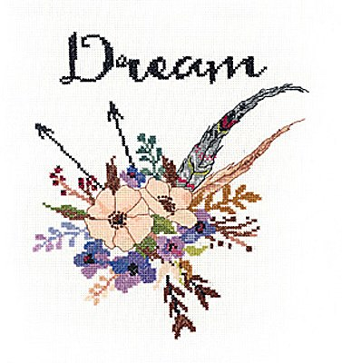 "Janlynn Watercolour Flowers ""Dream"" Cross Stitch Kit"